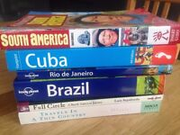Selection of South American travel books