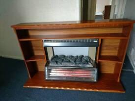 Electric halogen heater, fire surround