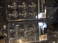 Bubbled glass furniture knobs x 12