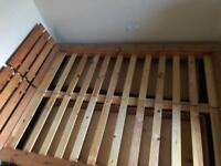 King size pine double bed with mattress
