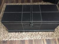 Black Faux Storage Box