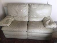Cream reclining sofa