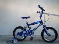 "(2145) 14"" 10"" LAZYTOWN GO KIDS Boys Girls Kids Childs Bike Bicycle Age: 3-5 Height: 97-113 cm Blue"