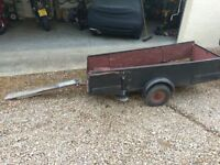 Single motorcycle trailer and tip trailer - needs new woodwork.
