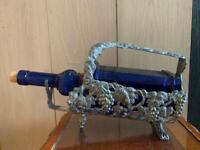Vintage Silver Plated Adjustable Wine Bottle Rack