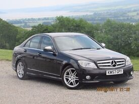 2008/57 MERCEDES C220 CDI SPORT MANUAL, BLACK, GREY LEATHER WITH HISTORY