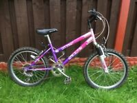 """Girls 20"""" bike with front suspension can deliver for a small charge"""