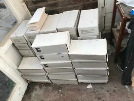 Matt white ceramic tiles - fired earth