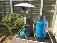 PATIO GAS HEATER WITH GAS BOTTLE