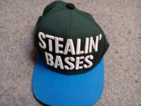 'STEALIN' BASES' baseball cap - brand new - reasonable offers accepted
