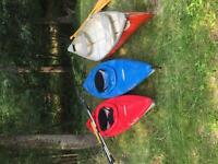 Kayaks and canoe for sale