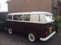 VW Type 2 Bay camper van 1971 Historic vehicle ZERO Road Tax with 12 Months MOT. Good runner