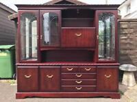 Mahogany Display Cabinet ( Can Deliver )