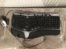Ergonomic mouse and keyboard