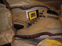 Caterpillar safety boots size 5 in tan brand new in box never used