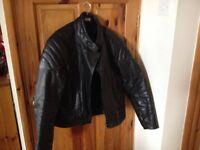 Frank Thomas men's leather bike jacket