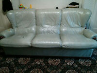FREE to collect Leather Sofa sifas three seater and one seater
