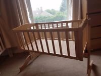 Swinging crib with/without matress £30