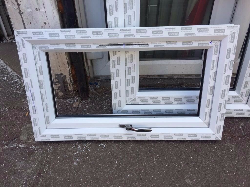 WINDOW UPVC Double Glazed WHITE Frame & Glass & Handle 400mm(WX650mm ...