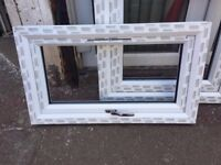 WINDOW UPVC Double Glazed WHITE Frame & Glass & Handle 400mm(WX650mm-Made to Measure Doors & Windows