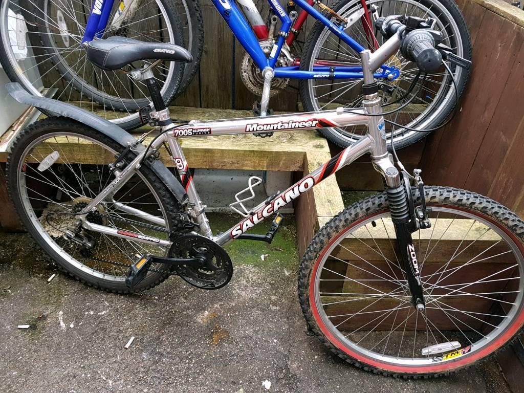 Alloy frame mountain bike