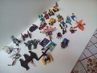 Lego toys, 25 of them.