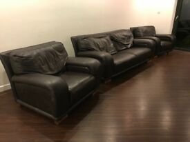Leather suite,