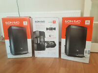 """JBL EON610 10"""" two-way stage monitor or front powered speaker system 500w"""