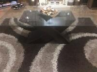 Designer coffee table with side tables