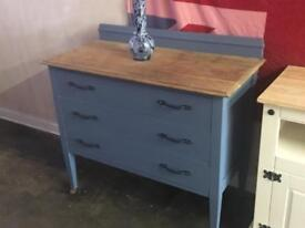 Vintage draws painted in midnight blue