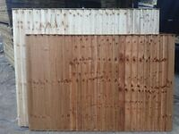 6ftx5ft Pressure Treated & Tanilized Vertilap Fence Panels ----£20-----