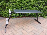 A January resolution! A padded bench;- ideal for sit ups and all those lay down exercises