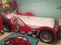 Kids Racing car bed and matching chest of drawers