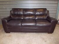 Dark Brown Leather 3+2-seater Suite (Sofa)