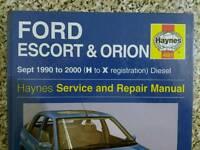 Ford Escort / Orion. Haynes manual.