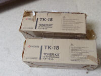 Kyocera 1020 series TK-18 black toner orginal - two packs