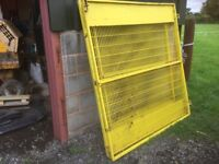 Yellow Mesh Gates x 4