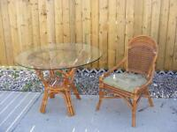 Rattan dinning set and Whirlpool dishwasher
