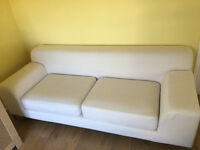 KRAMFORS 3 SEATER SOFA, ALMOST NEW COVERS