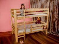 New solid wood bunk bed handmade free delivery