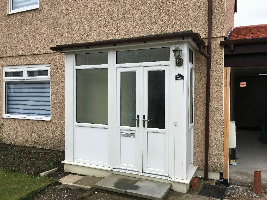 Upvc panels french doors for a house porch outside for Upvc front doors for sale