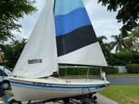 This wonderful day sailer is ready for a new home sails and rigging are  good