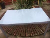 Garden glass top table new never used