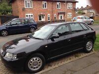 Audi A3 1.8 Petrol Black 5 Door.