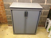 Tambour Grey Cabinet (80 x 105cm)