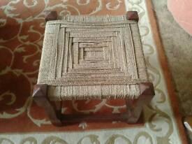 Sisal rope footstool