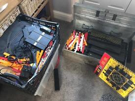 Lots of Scalextric track and cars