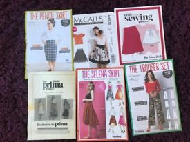 6 sewing patterns - for ladies trousers and skirts - pack D