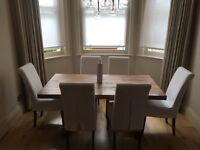 6 X dining room chairs incl. slip cover