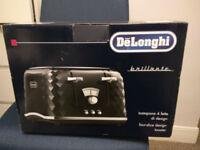BRAND NEW De'Longhi Brillante 4 Slice Toaster - Black